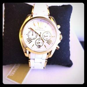 Michael kors Ladies white & Gold  chronograph  wat